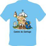 Camiseta Camino de Santiago Oveja Mapa