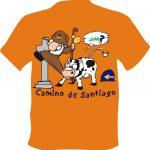 Camiseta Camino de Santiago Peregrino Vaca