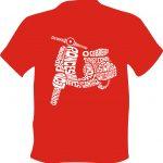 Camiseta Camino de Santiago Vespa